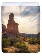 The Lighthouse - Palo Duro Canyon Texas Duvet Cover