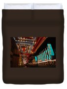 The Lights Are On In Las Vegas Duvet Cover
