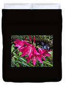 The Lilies Of Summer Duvet Cover