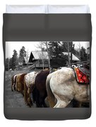 The Line Up Duvet Cover by Barry C Donovan