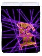 The Lines Of Martha Graham L Tech Duvet Cover