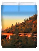 The Linn Cove Viaduct At Sunrise Duvet Cover