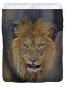 The Lion Dry Brushed Duvet Cover