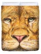 The Lion Roar Of Freedom Duvet Cover