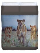 The Lions Of Africa 1 Duvet Cover