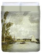The Little Branch Of The Seine At Argenteuil Duvet Cover