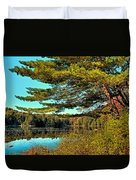 The Little Known Cary Lake Duvet Cover