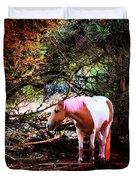 The Little Pink Unicorn By Pedro Cardona Duvet Cover