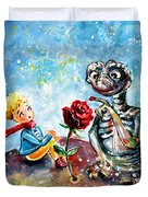 The Little Prince And E.t. Duvet Cover