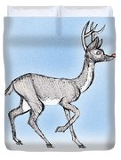 The Little Reindeer  Duvet Cover