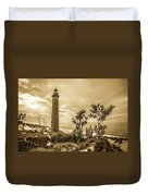 The Little Sable Lighthouse Duvet Cover