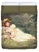 The Little Shepherdess Duvet Cover