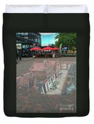 The Little Street By Vermeer In 3d Duvet Cover