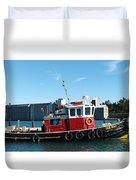 The Little Tug Boat Duvet Cover