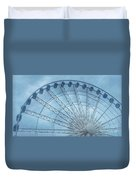 The Liverpool Wheel In Blues 2 Duvet Cover