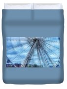 The Liverpool Wheel In Blues 3 Duvet Cover