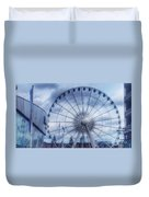 The Liverpool Wheel In Blues Duvet Cover