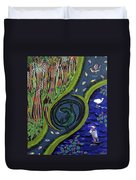The Living Marshes Duvet Cover