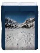 The Loch Under Snow Duvet Cover