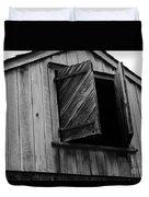 The Loft Door In Black And White Duvet Cover