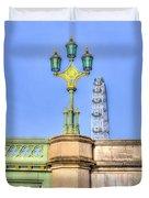 The London Eye And Westminster Bridge Duvet Cover