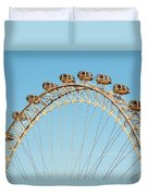 The London Eye Ferris Wheel Against A Cold Blue Winter Sky Duvet Cover