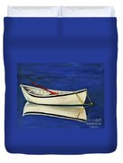 The Lone Boat Duvet Cover