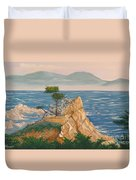 The Lone Cypress Tree Duvet Cover