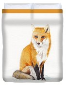 The Lone Fox Duvet Cover