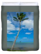 The Lone Palm Duvet Cover
