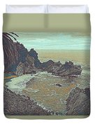 The Lone Waterfal By The Hidden Cove Duvet Cover