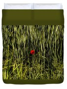 The Loneliness Of A Poppy Duvet Cover