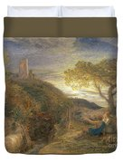 The Lonely Tower Duvet Cover by Samuel Palmer