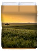 The Lonely Tree, Israel Landscape Duvet Cover