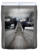 The Long Walk To Work Duvet Cover