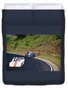 The Loss Of Grip On The Rear Wheels. Duvet Cover