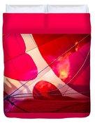 Hearts A' Fire - The Love Hot Air Balloon Duvet Cover