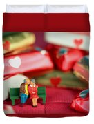 The Lovers In Valentine's Day Duvet Cover