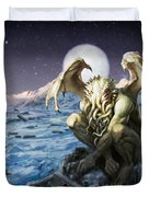 The Lurker From The Darkness Duvet Cover
