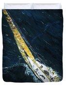The Mac. Chicago To Mackinac Sailboat Race. Duvet Cover