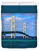The Mackinac Bridge Duvet Cover