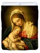 The Madonna And Child Duvet Cover by Il Sassoferrato