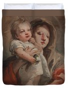 The Madonna And Child With A Goldfinch Duvet Cover