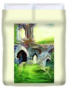 The Magic And Majesty Of Corfe Castle Duvet Cover