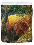 The Magic Apple Tree Duvet Cover by Samuel Palmer