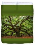 The Magical Angel Oak Tree Panorama  Duvet Cover