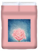 The Magical Pink Rose Duvet Cover