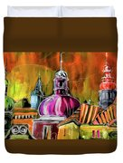 The Magical Rooftops Of Prague 01 Duvet Cover by Miki De Goodaboom