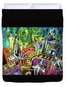 The Magical Rooftops Of Prague 02 Duvet Cover by Miki De Goodaboom