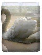 The Magical Swan  Duvet Cover